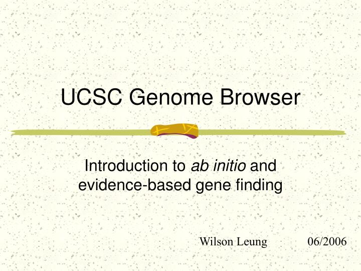 ucsc genome browser n.