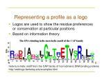 representing a profile as a logo