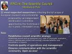 erc 4 the scientific council members role
