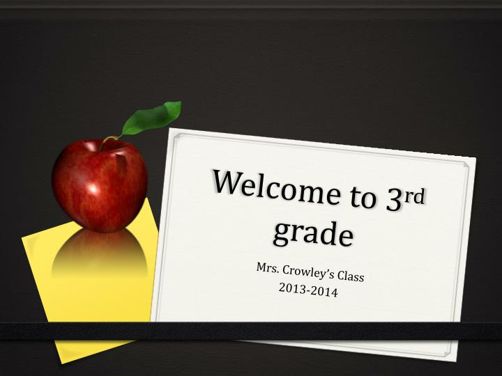 welcome to 3 rd grade n.