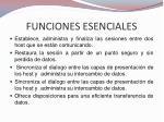 funciones esenciales