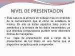 nivel de presentacion1
