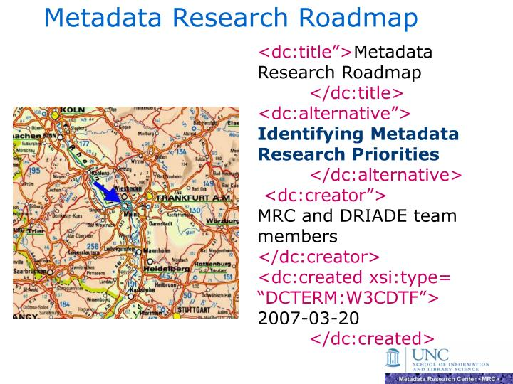 metadata research roadmap n.