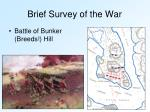 brief survey of the war