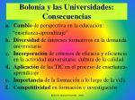 bolonia y las universidades consecuencias