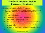 proceso de adaptaci n externa profesores y estudiantes1