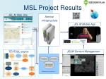 msl project results
