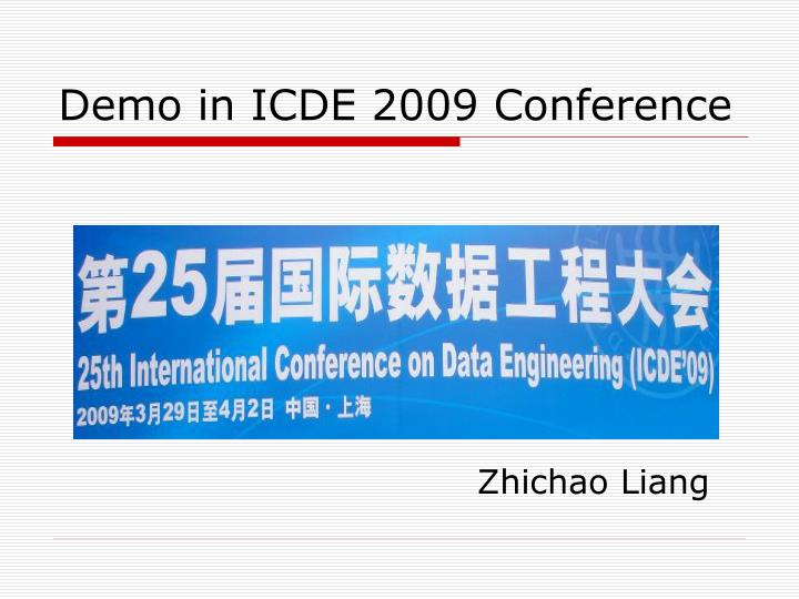 demo in icde 2009 conference n.