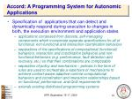 accord a programming system for autonomic applications