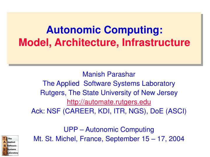 autonomic computing model architecture infrastructure n.