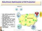 data driven optimization of oil production