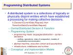 programming distributed systems