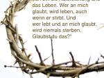 johannes evangelium 11 25 26