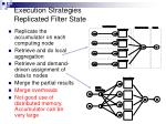 execution strategies replicated filter state