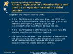 aircraft registered in a member state and used by an operator located in a third country2