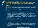 aircraft registered in a member state and used by an operator located in a third country3