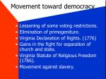 movement toward democracy