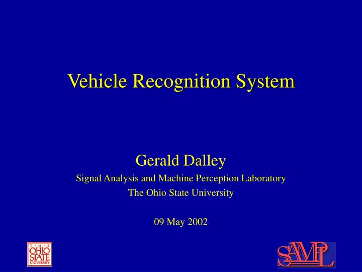 vehicle recognition system n.