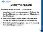 animator obrotu