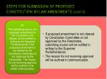 steps for submission of proposed constitution bylaw amendments cont d8