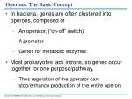 operons the basic concept