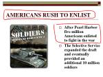 americans rush to enlist