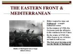 the eastern front mediterranean