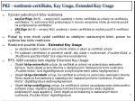 pki roz renie certifik tu key usage extended key usage