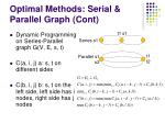 optimal methods serial parallel graph cont