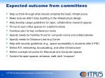 expected outcome from committees