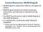 course resources mywritinglab