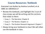 course resources textbook
