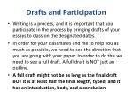 drafts and participation