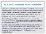 academic honestly and plagiarism1