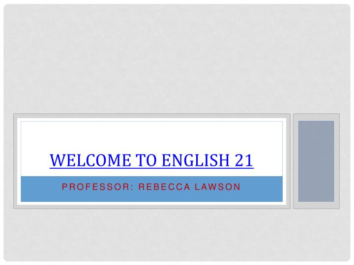 welcome to english 21 n.