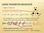large parameter behaviour