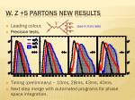 w z 5 partons new results