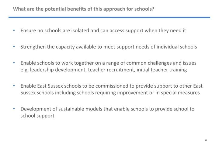 What are the potential benefits of this approach for schools?