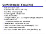 control signal sequence