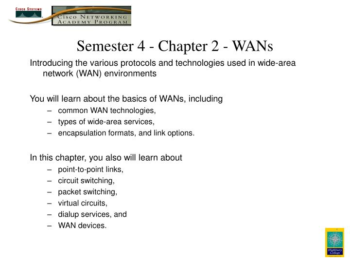 semester 4 chapter 2 wans n.