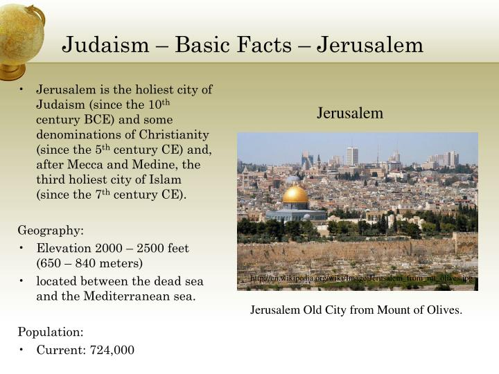 Judaism – Basic Facts – Jerusalem