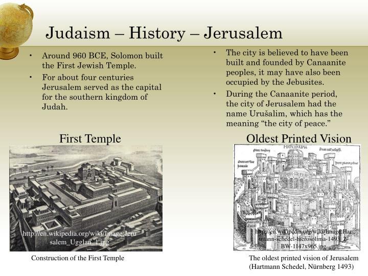Judaism – History – Jerusalem