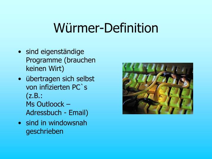 Würmer-Definition