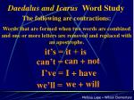 daedalus and icarus word study
