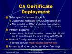 ca certificate deployment