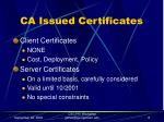 ca issued certificates