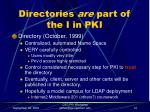 directories are part of the i in pki