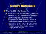 expiry rationale