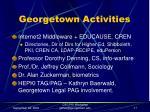 georgetown activities