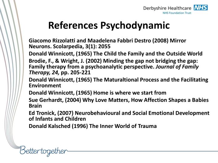 References Psychodynamic